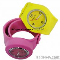 slap-on watches, silicone slap on watches
