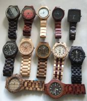 custom hand made wood watch wooden wrist watches with japan movement