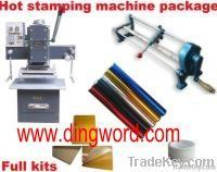 Professional hot foil stamping machine full package