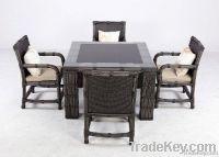 Rattan Dining Chair Set