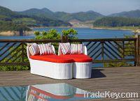 Rattan Lounger Garden Sofa