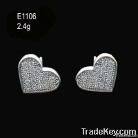 Sterling Silver Earrings (CZ Stones)