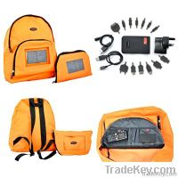 Solar Backpack & Charging Kit For Mobile