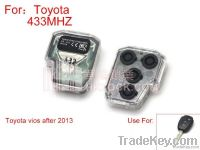 Toyota Vios 2 button remote control 433 frequency (after 2013)