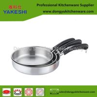 3pcs stainless steel frying pan
