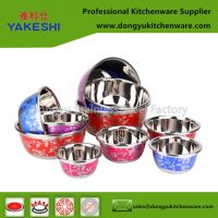 customized stainless steel bowl with decalcomania