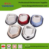 multi colors stainless steel dog feeder bowl
