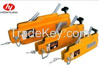 Manual wire rope pulling hoist
