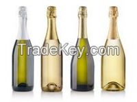 Non-Alcoholic Sparkling Fruit Nectars Juice Drinks in Champagne Bottles