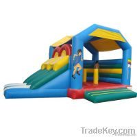 Inflatable Bounce House (Dual Inflatable Slides)