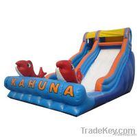 big kahuna wet inflatable slide