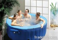 Inflatable bubble spa