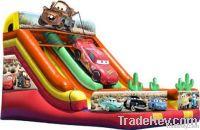 car movie inflatable slide