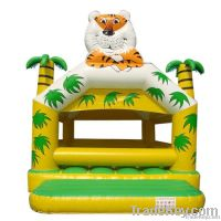 jungle and tiger inflatable moonwalk