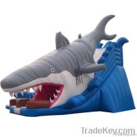 Inflatable Shark Slide With Pool