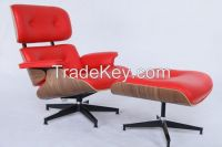 leather eames lounge chair and ottoman replica