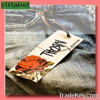 Hang tag for garment made