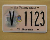 st. maarten license plate/number plate
