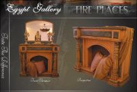 Fire Place handmade from wood and marble bars