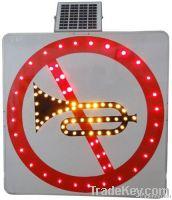 Solar prohibiting sign