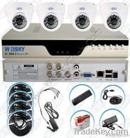 4Ch H.264 FULL D1 DVR and cameras