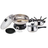 Electrical Stainless Steel Wok And Fondue Set KL12-51B