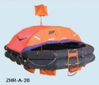 throw-over type inflatable life-raft