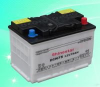 12v 75AH DIN75 Dry Charged Car Battery