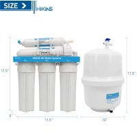 Hikins 200g RO (reverse osmosis) Water Treatment Purification System with No Tank