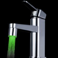HiKiNS Color Faucet LED Lights Water Tap Kitchen Bathroom Single Handle Temperature Sensor