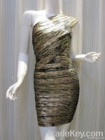 Oil Printed Bandage Dresses (HL)