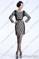 NEW!! 10510 Formal Long Sleeve lacey crochet dress