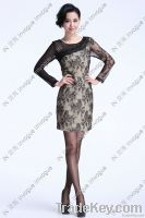 10507 Enchanting Long Sleeve Flower Lace dress