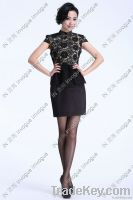 NEW arrival!! 10504 Charming Macrame Lace dress BLACK
