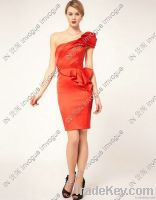 10501 ONE shoulder Layered Party& evening dress