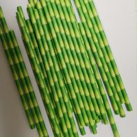 wholesale bamboo stripe paper drinking straw