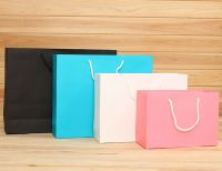 hot sale foldable colored paper bag