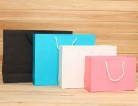 hot sale foldable colored paper bag
