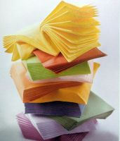 disposable single color paper napkin
