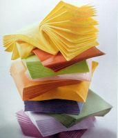 disposable single color paper napkin