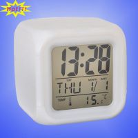 Desktop LED Digital Alarm Clock with 7 Glowing Color Change