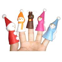 nonwoven finger puppet