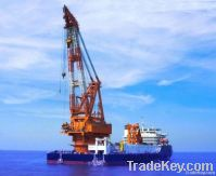 revolving floating crane barge rotating floating crane barge rotation
