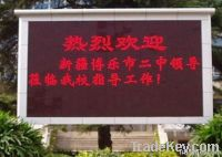 P10 single red color LED message sign
