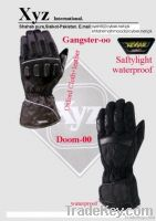 Motorbike water proof gloves