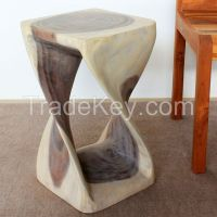 Twist Stool 12 in SQ x 20 in H