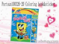 colouring book with