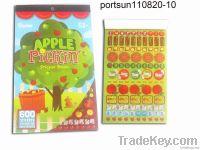 Carton children's sticker book with eco-friendly material