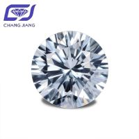Super white color Round Brilliant DEF color VVS 6.50mm 1 ct Moissanite Synthetic Diamond for sale
