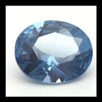 Wuzhou Factory Wholesale Loose Aquamarine Blue Spinel #107 Oval Cut Synthetic Spinel Gemstone